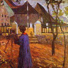 Gabriele Munter painting, 1903 Wassily Kandinsky - Post-Impressionism