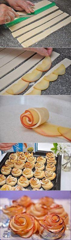 СЛоеное тесто и яблочки