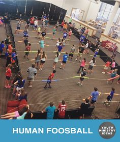 Human foosball is all the rage. Youth Ministry Ideas and Games.