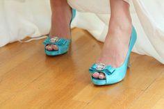 Something blue... wedding shoes
