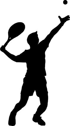 Tennis Man Playing - Free vector graphic on Pixabay Baby Silhouette, Silhouette Painting, Silhouette Images, Public Domain, My Images, Free Images, Tennis Drawing, Tennis Photography, Tennis Pictures