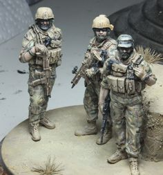 Pictured are a trio of Legend ODA operators with LiveResin SCAR-Ls and a TANK M4. Let us know what you think!