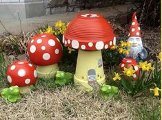 These Terracotta Toadstools will be a welcome sight in your garden. They are perfect for fairy gardens too and so easy to make. Get the kids to help!