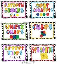 Fun supply labels for the classroom