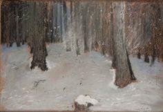 Leon Wyczółkowski, Las zimą