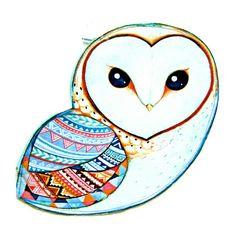 Hipster owl art