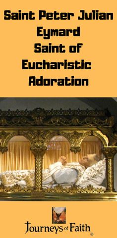Saint Peter Julian Eymard Saint of Eucharistic Adoration Catholic Saints, Roman Catholic, Holy Hour, Pope Pius Ix, Lives Of The Saints, Saint Quotes, Eucharist, Before Us, The Life