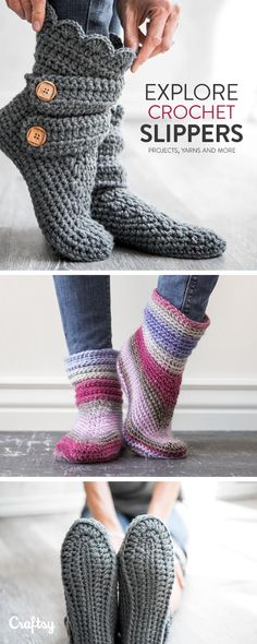 Explore crochet slipper projects, yarns, videos and more!