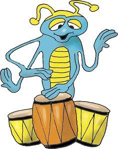 Cheerful Beetle Making Music His Drums témájú stockvektorkép (jogdíjmentes) 1465134599 Beetle, Bart Simpson, Cheer, Kindergarten, Kids, Fictional Characters, Image, Musica, June Bug