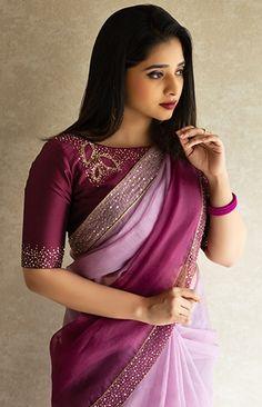Silk Saree Blouse Designs, Fancy Blouse Designs, Blouse Neck Designs, Choli Designs, Trendy Sarees, Stylish Sarees, Fancy Sarees, Chiffon Saree Party Wear, Party Wear Sarees