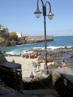 San Telmo beach walls, many of which were removed to open up to the sea in Puerto Cruz Spain.