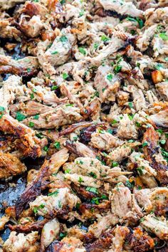 These Crispy Pork Carnitas are seriously bursting with flavor yet so simple to make! This is the meat you want for your tacos, burritos, sandwiches, you name it. It's to die for! Gourmet Recipes, Crockpot Recipes, Healthy Recipes, Carnitas Burrito, Leftover Pork, Homemade Guacamole, Pork Meat, Crispy Pork, Orange Recipes