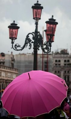 pink umbrella to brighten up those rainy days