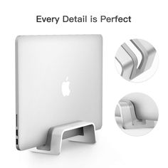 Amazon.com: Vertical Laptop Stand for MacBook Pro/Air, Desktop Space-Saving,Laptop Holder (for New MacBook Pro with USB-C): Computers & Accessories Newest Macbook Pro, New Macbook, Macbook Desktop, Laptop Stand, Phone Holder, Computer Accessories, Space Saving, Man Cave, Computers