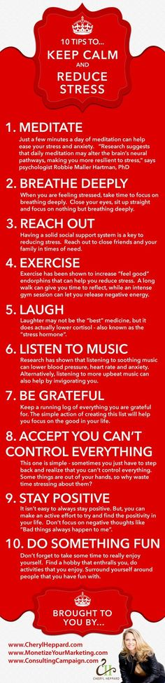 10 Tips to Keep Calm and Reduce Stress | Reduce Stress | Keep Calm | Live Life Intentionally