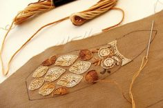 WIP : : Nutmeg The Wren (embroidery) | Flickr - Photo Sharing!