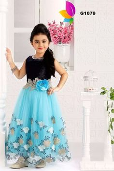 Varshini Collections Kids Party Wear and Ethnic dresses Long Frocks For Kids, Frocks For Babies, Frocks For Girls, Gowns For Girls, Dresses Kids Girl, Cute Dresses, Girl Outfits, Girls Frock Design, Kids Frocks Design