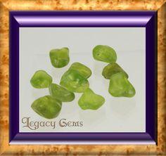 Peridot Rough  Tumbled by LegacyGems on Etsy, $37.80