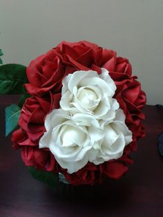 Wedding Details Red Roses Bouquet Winter Flowers