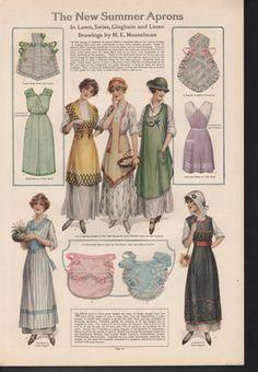 Aprons pattern, 1915