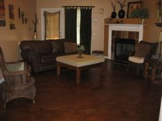 buckskin acid stained decorative concrete flooring memphis deas floor decor