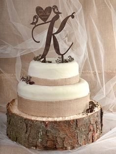 This Beautiful Cake Topper Is Made From Wood Perfect To Outdoor Rustic Wedding Measures 8 X 6 Cm 15 17 12
