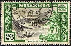 Nigeria 1953 SG 77 Victoria Habour Fine Used    SG 77 Scott 88 Other Commonwealth Stamps for sale here
