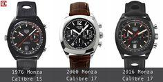 Three generations of Heuer Monza- 1976-2000-2016