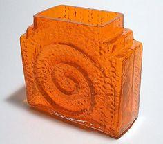 "NANNY STILL - Glass vase ""Kometti"" 1414 designed 1967 for Riihimäen Lasi Oy, in production Finland."