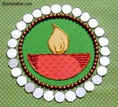Handmade Diwali Card with a Diya Center • Art Platter