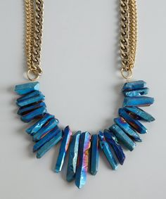 Stone fringe necklace from Janna Conner. It's simply gorgeous.