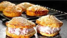 Salmon Burgers, Muffin, Food And Drink, Baking, Breakfast, Ethnic Recipes, Sweet Stuff, Morning Coffee, Bakken