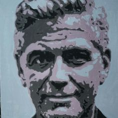 George Clooney acryl painting