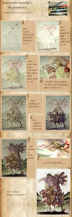 watercolor tutorial 1 by *Avionetca on deviantART