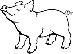 Pig color page animal coloring pages color plate coloring sheet