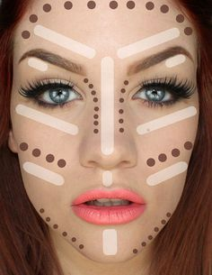 Makeup Tutorials & Makeup Tips : Contouring Tutorial: How To Make Face Look Slimmer. Best tips on how to achieve perfect looking foundation. Makeup Tricks and Beauty Ideas. Makeup Guide, Eye Makeup Tips, Love Makeup, Diy Makeup, Beauty Makeup, Perfect Makeup, Makeup Art, Diy Beauty, Makeup Ideas