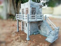 Belen artesanal: Catálogo de construcciones Bird Feeders, Nativity, Miniatures, Scene, Construction, Dfs, Outdoor Decor, Christmas, Handmade