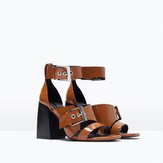 ZARA - 本周新品 - 复古高跟凉鞋