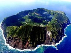Aogashima Village covers the island of Aogashima, the southernmost and most isolated populated island in the Izu archipelago in the Philippine Sea, 358.4 kilometres (222.7 mi) south of central Tokyo, and 71.4 kilometres (44.4 mi) south of Hachijōjima, its nearest populated neighbor. Aogashima is the least populous municipality in the whole of Japan. Warmed by the Kuroshio Current, the town has a warmer and wetter climate than central Tokyo.