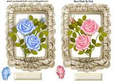PRETTY ROSES IN A FRILL FRAME TOPPERS on Craftsuprint - Add To Basket!