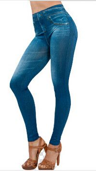 Plus Size Women Slim Leggings Jeans Woman Jeggings Fitness Black Sexy Disco Pants Girls Leggins With 2 Real Pockets