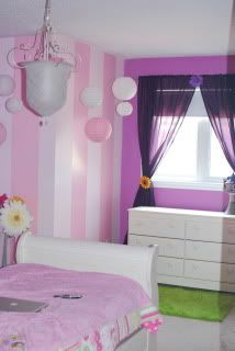 """""""Tangled Bedroom!"""" Already have the stripes ... Just add purple"""