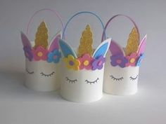 DIY Unicorn Projects - Welcome Pikide Kids Crafts, Diy And Crafts, Diy Party, Party Gifts, Girl Birthday Decorations, Unicorn Themed Birthday, Unicorn Crafts, First Birthdays, Creations