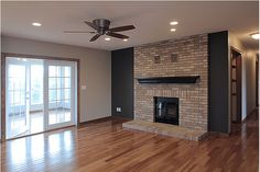 Fire Place on the main Floor, Wood burning.