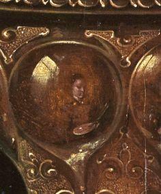 Bodegón con flores, copas doradas, monedas y conchas (detalle) Clara Peeters Óleo sobre tabla, 59,5 x 49 cm 1612 Karlsruhe, Staatliche Kunsthalle