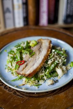 Crispy Pork Belly with Thai Fried Rice | DonalSkehan.com