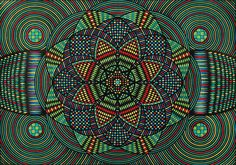 The kaleidoscopic mandalas of Eugene Andolsek will be on display at the Raw Vision exhibition at Halle Saint Pierre, Paris. http://rawvision.com/articles/eugene-andolseks-kaleidoscopic-mandalas