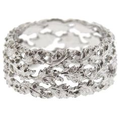 Fancy An k white gold ring by Buccellati Retail of the ring is Comes Wide Wedding