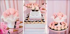 "Cute ganache covered ""sundae"" cupcakes in the center!"