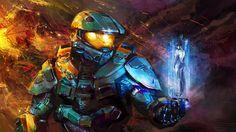 Chief & Cortana by bebeshebee